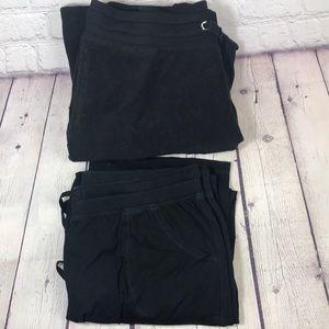 L- Bundle of 2 black track pants champion/ Danskin